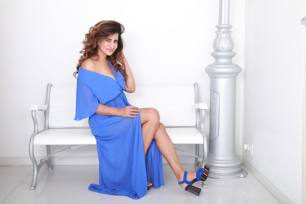 Saru Maini in Blue Dress
